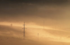 High voltage electric lines Stock Image