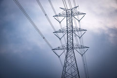 high voltage electric pole Stock Images