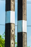 The high voltage electric pole Royalty Free Stock Photo