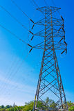 High voltage electric post Stock Images