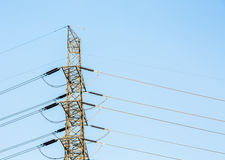 High voltage electric post Stock Photography