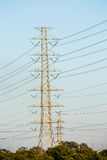 High voltage electric post Stock Photo