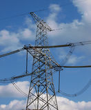 High-voltage electric post Stock Images