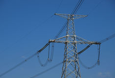 High-voltage electric post Royalty Free Stock Photography