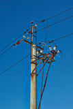 High-voltage electric power lines . Stock Images