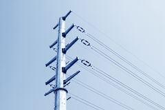High voltage electric power steel tube tower Stock Images