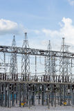 High voltage electric power substation Stock Photo