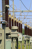High Voltage Electric Substation Royalty Free Stock Image
