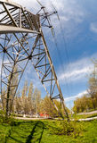 High voltage electric tower Stock Images