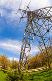 High voltage electric tower Stock Image