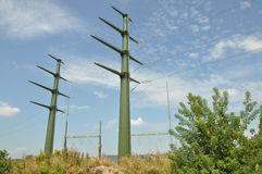 High voltage electric tower Royalty Free Stock Images