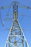 High Voltage Electric Tower. On blue sky Royalty Free Stock Images