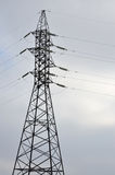 High Voltage Electric Tower. Electricity transmission pylon Stock Photo