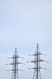 High Voltage Electric Tower. Electricity transmission pylon Stock Image