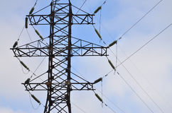 High Voltage Electric Tower. Electricity transmission pylon Royalty Free Stock Photo