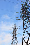 High Voltage Electric Tower. Electricity transmission pylon Royalty Free Stock Photos