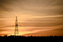 High Voltage Electric Tower Stock Photo