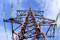 High-voltage electric tower Royalty Free Stock Image