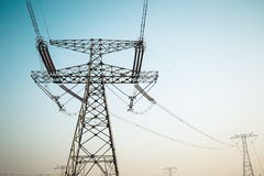 High voltage electric tower Stock Photos