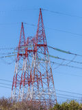 High voltage electric towers Royalty Free Stock Photography