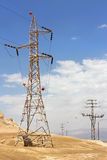 High voltage electric transmission line Stock Image