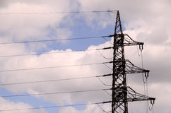 High Voltage Electric Transmission Tower. Energy Pylon royalty free stock image