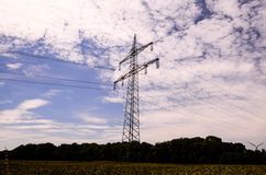 High Voltage Electric Transmission Tower. Energy Pylon stock images