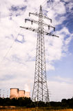 High Voltage Electric Transmission Tower. Energy Pylon royalty free stock images