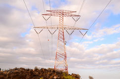 High Voltage Electric Transmission Tower Royalty Free Stock Photo