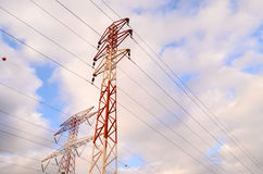 High Voltage Electric Transmission Tower Royalty Free Stock Images