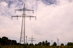 High Voltage Electric Transmission Tower Stock Photo