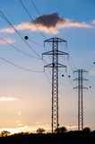 High Voltage Electric Transmission Tower Stock Photos