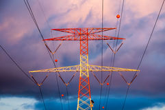 High Voltage Electric Transmission Tower. Energy Pylon royalty free stock photo