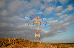 High Voltage Electric Transmission Tower Stock Images