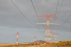 High Voltage Electric Transmission Tower Royalty Free Stock Photos