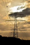 High Voltage Electric Transmission Tower. Energy Pylon royalty free stock photos