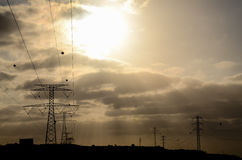 High Voltage Electric Transmission Tower. Energy Pylon royalty free stock photography