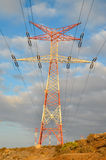 High Voltage Electric Transmission Tower. Energy Pylon stock photography