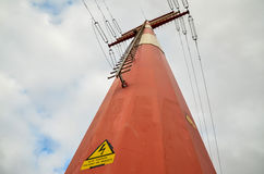 High Voltage Electric Transmission Tower Stock Photography