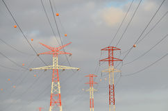 High Voltage Electric Transmission Tower Stock Image