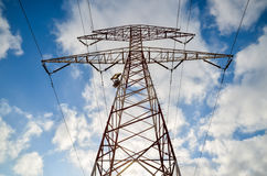 High Voltage Electric Transmission Tower Royalty Free Stock Photography
