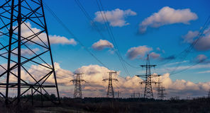 High Voltage Electric Transmission Tower Energy Pylon. High Voltage Electric Transmission Tower Energy Pylon stock photo