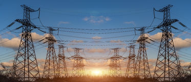 High Voltage Electric Transmission Tower Energy Pylon. High Voltage Electric Transmission Tower Energy Pylon stock image