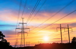 High Voltage Electric Transmission Tower Energy Pylon. High Voltage Electric Transmission Tower Energy Pylon stock photography