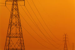 High Voltage Electric Transmission Tower Energy royalty free stock images
