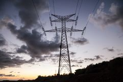 High Voltage Electric Transmission Tower. Energy Pylon stock photos