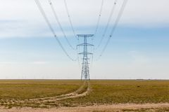 High Voltage Electric Transmission Tower Energy Pylon.  royalty free stock photos