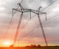 High Voltage Electric Transmission Tower Energy Pylon. High Voltage Electric Transmission Tower Energy Pylon royalty free stock photo