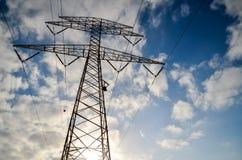 High Voltage Electric Transmission Tower. Energy Pylon stock photos