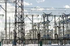 High voltage electrical Royalty Free Stock Images